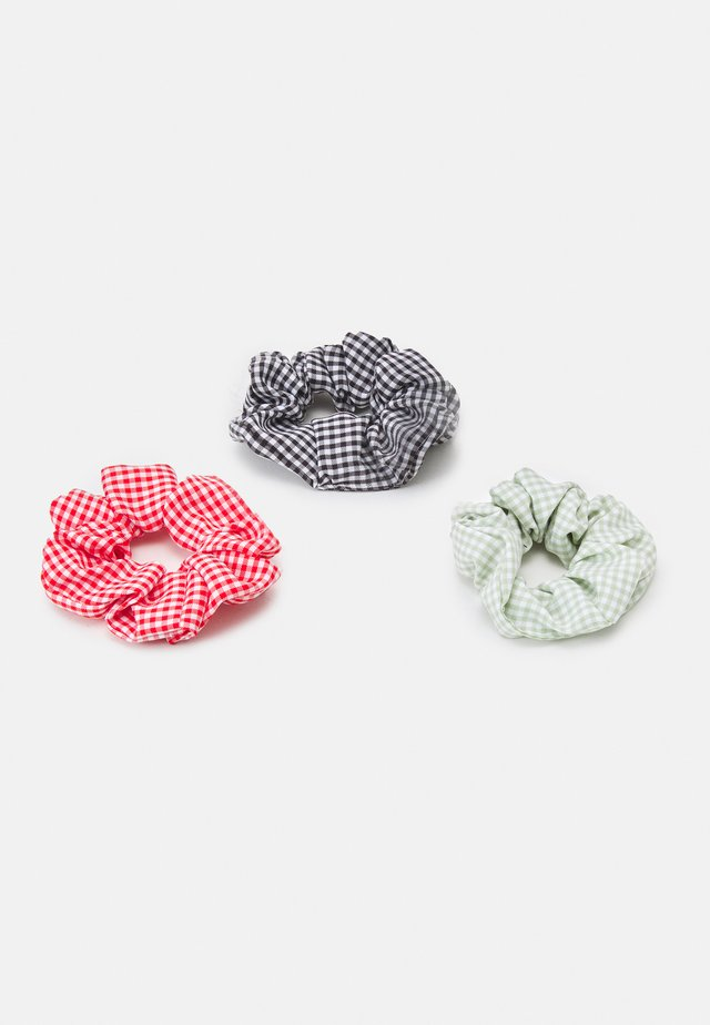 MALLORY SCRUNCHIE ZAL 3 PACK - Hårstyling-accessories - black/red/green