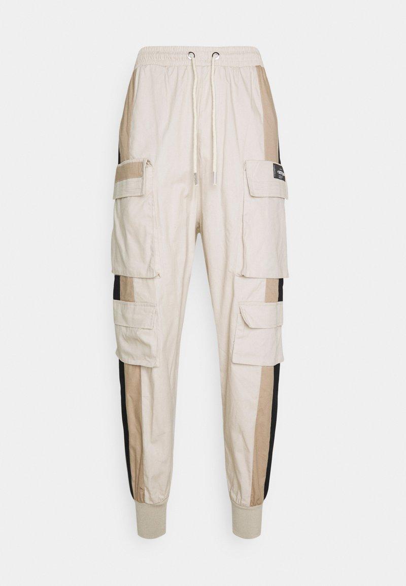 Sixth June - TRICOLOR CARGO PANTS - Cargo trousers - beige