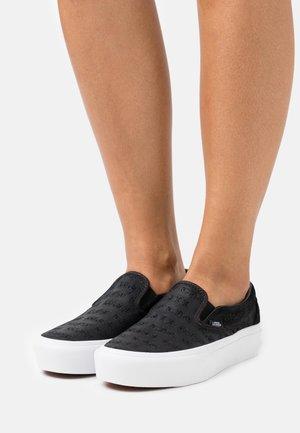 CLASSIC PLATFORM - Nazouvací boty - black