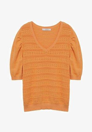 MANCHES BOUFFANTES - Sweter - mandarine