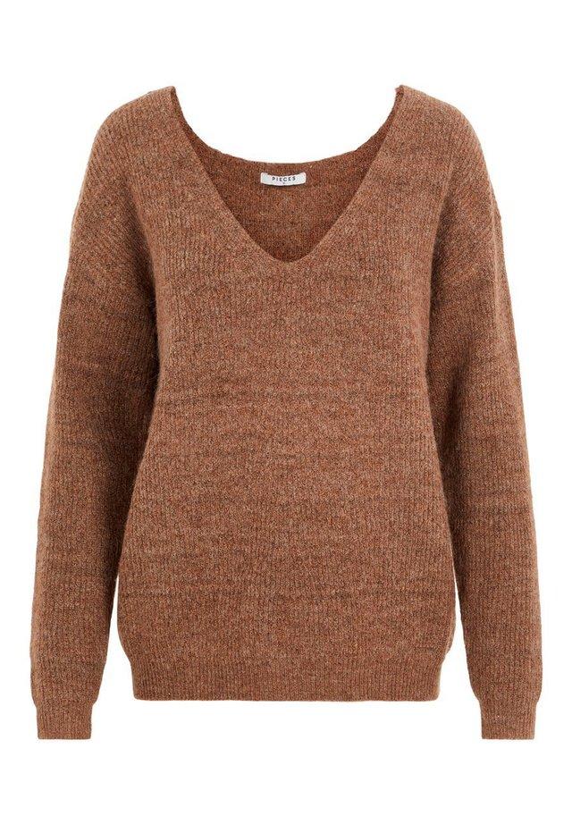 PCBABETT  - Sweter - mocha bisque