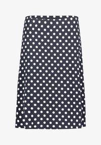 Betty Barclay - MIT PUNKTEN - A-line skirt - dunkelblau/weiß - 3