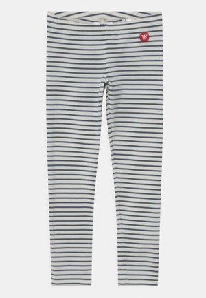 IRA UNISEX - Leggings - Trousers - off-white/blue