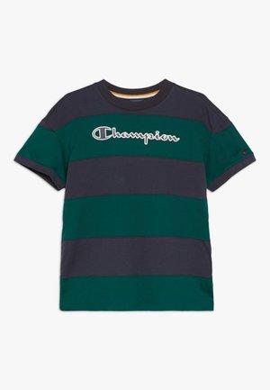 ROCHESTER VARSITY CREWNECK - T-shirt print - dark blue/dark green