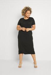Vero Moda Curve - VMGAVA DRESS CURVE - Jersey dress - black - 0