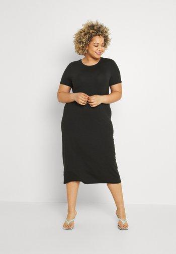 VMGAVA DRESS CURVE - Jersey dress - black