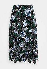 Marks & Spencer London - FLORAL SKATER - Áčková sukně - black - 1