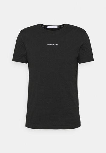 MICRO BRANDING ESSENTIAL TEE - T-shirt - bas - black