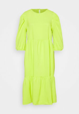 ONLVIVA 3/4 BELOW KNEE DRESS - Day dress - acid lime