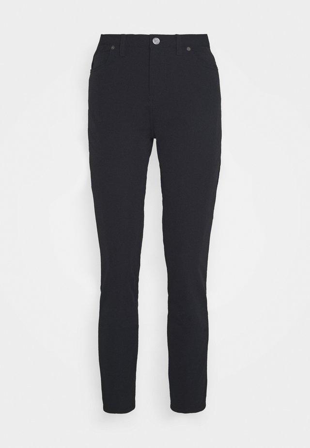 SLIM PANT - Broek - black/black