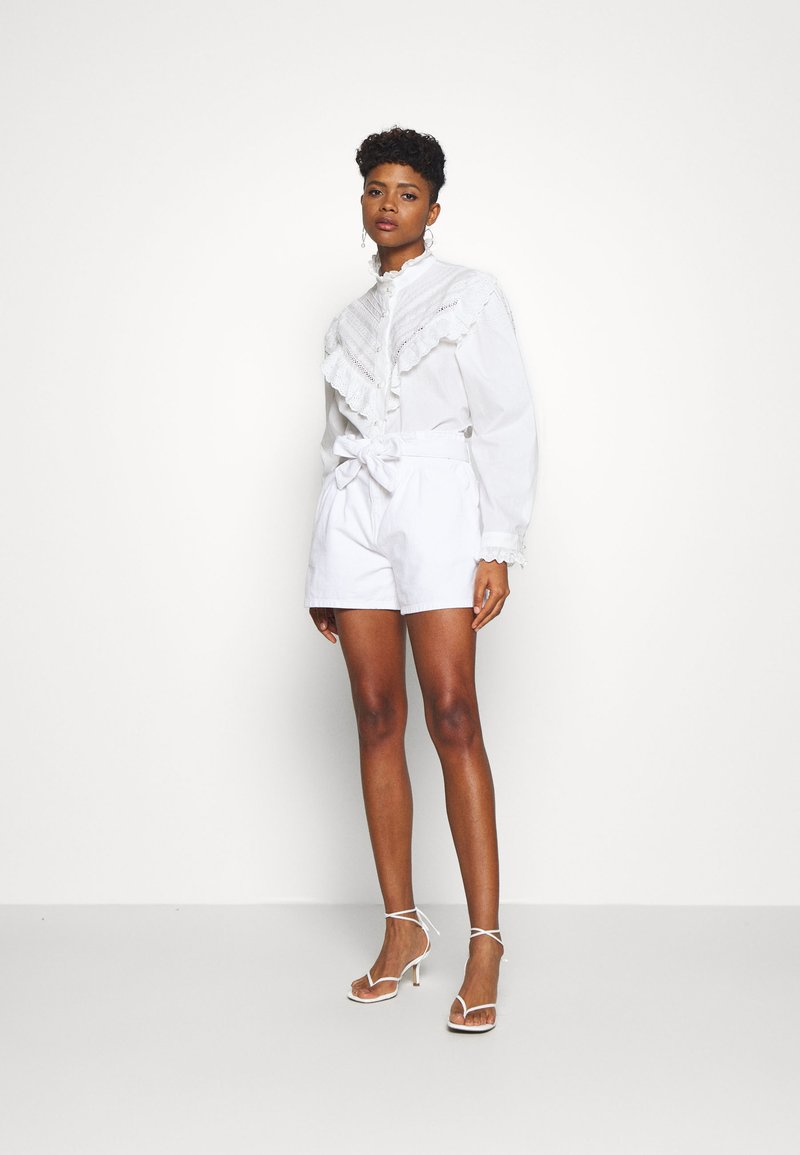 Sister Jane LAWN TRIMMED BLOUSE - Bluse - ivory/offwhite XkD3m7
