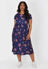 Live Unlimited London - Jersey dress - dark blue - 0