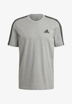 3-STRIPES SPORTS ESSENTIALS T-SHIRT - Print T-shirt - medium grey heather