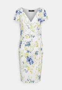 Lauren Ralph Lauren - PRINTED MATTE DRESS - Sukienka etui - cream/yellow - 5