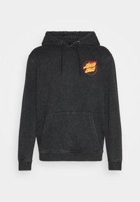 Santa Cruz - EXCLUSIVE JAPANSE FLAMING DOT TIE DYE HOODIE UNISEX - Sweatshirt - black acid wash - 5