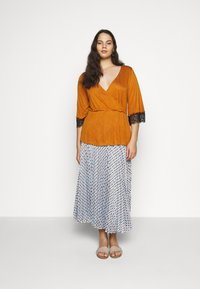 Persona by Marina Rinaldi - CAIRO - A-line skirt - turquoise - 1