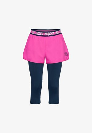 KARA TECH - Sports shorts - pink/dunkelblau