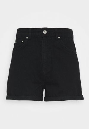 DAGNY MOM SHORTS - Kraťasy - black
