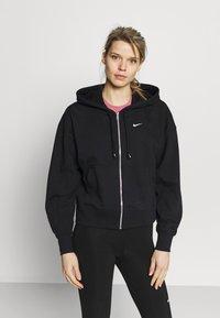 Nike Performance - DRY GET FIT  - Zip-up hoodie - black/white - 0
