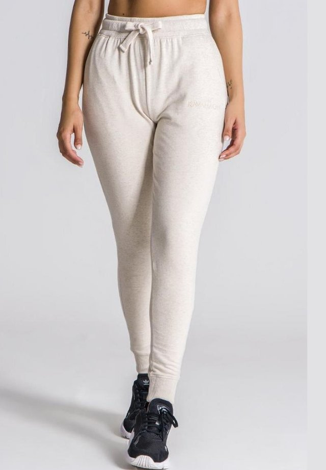 Pantalones deportivos - cream