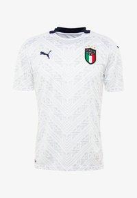 Puma - ITALIEN FIGC AWAY JERSEY - Landslagströjor - white/peacoat - 4