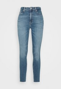 Calvin Klein Jeans - HIGH RISE SKINNY ANKLE - Jeans Skinny Fit - mid blue embro - 4