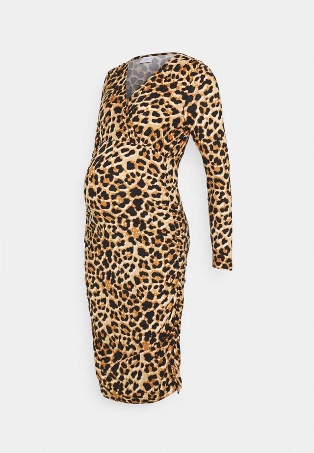 NURSING DRESS - Jerseykjoler - black/brown