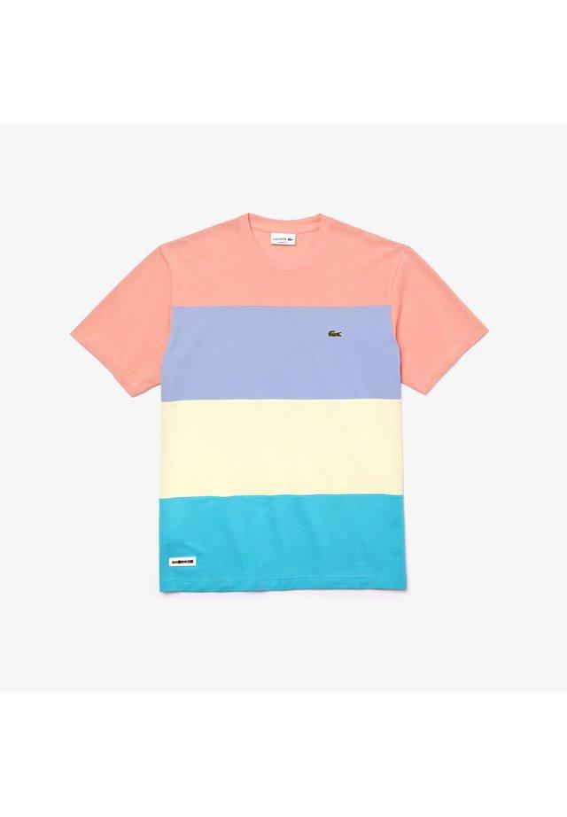 T-shirt imprimé - türkis / gelb / lila / rosa