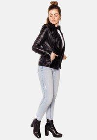 LEATHER HYPE - ARYAN - Leather jacket - black - 4