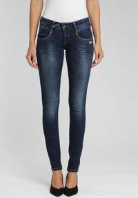 Gang - Jeans Skinny Fit - dark indigo used - 0