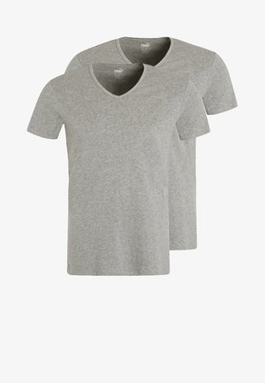 2 PACK - Hemd - middle grey melange