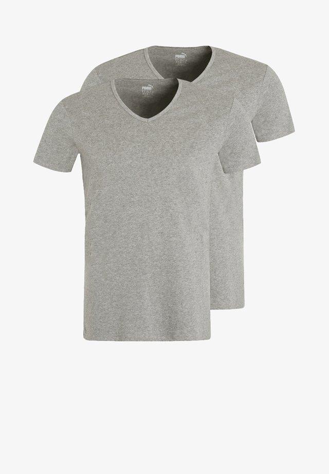 2 PACK - Maglietta intima - middle grey melange