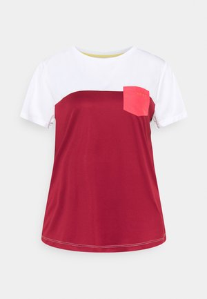 ALONG THE RIVER - Print T-shirt - tibetan red