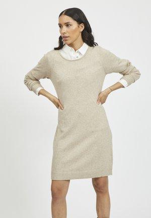 Jumper dress - natural melange