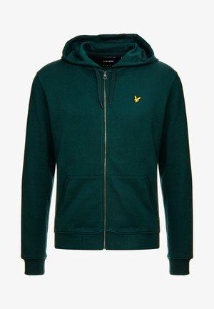 ZIP THROUGH HOODIE - Zip-up hoodie - jade green