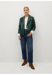 Violeta by Mango - ONETIOR8 - Leather jacket - dunkelgrün - 1