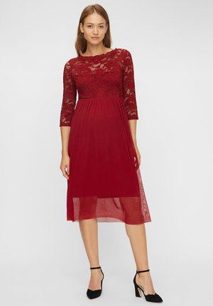 Cocktail dress / Party dress - rhubarb