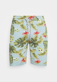 INDICODE JEANS - FLOWERS - Shorts - blue wave - 6