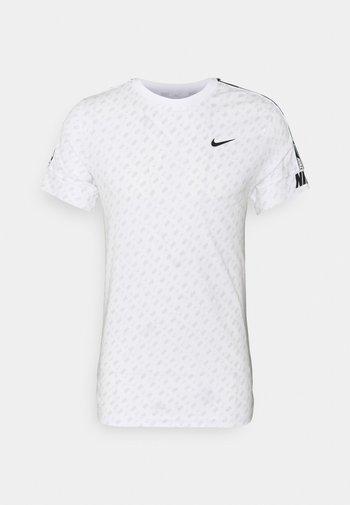 REPEAT TEE - T-shirt med print - white/black