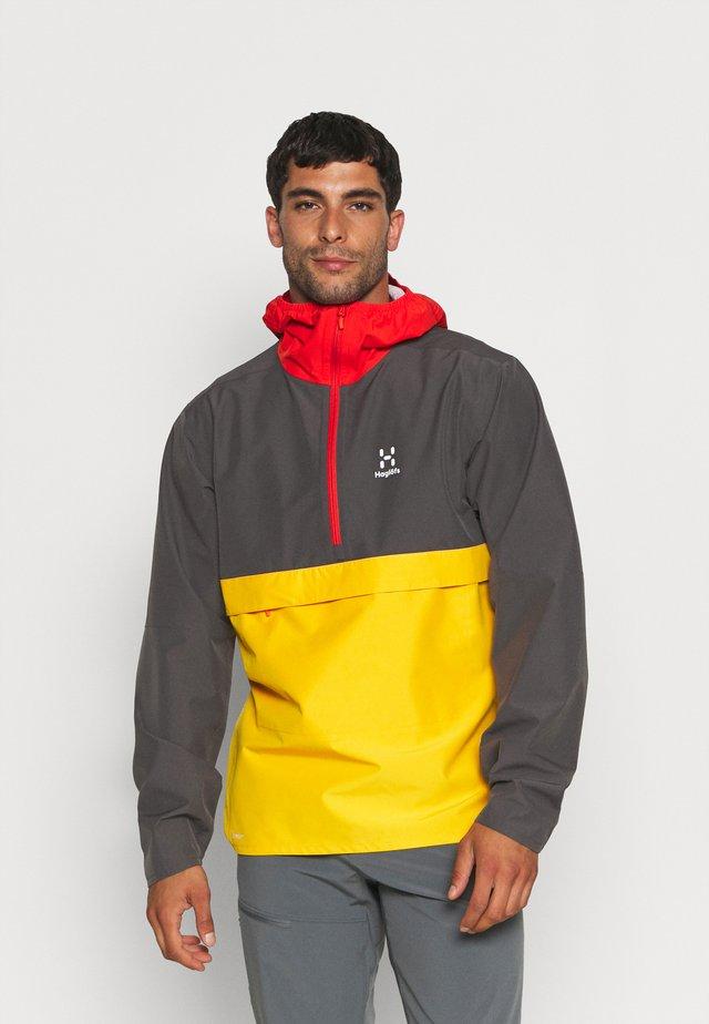 SPIRA ANORAK MEN - Windbreaker - magnetite/pumpkin yellow