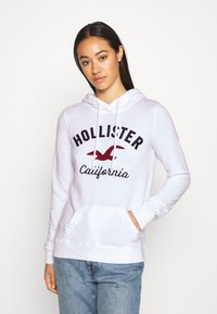 Hollister Co. - TERRY TECH CORE - Bluza z kapturem - white - 0