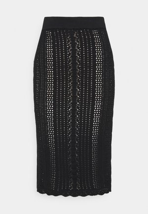 BIGLIARDO - Pencil skirt - black