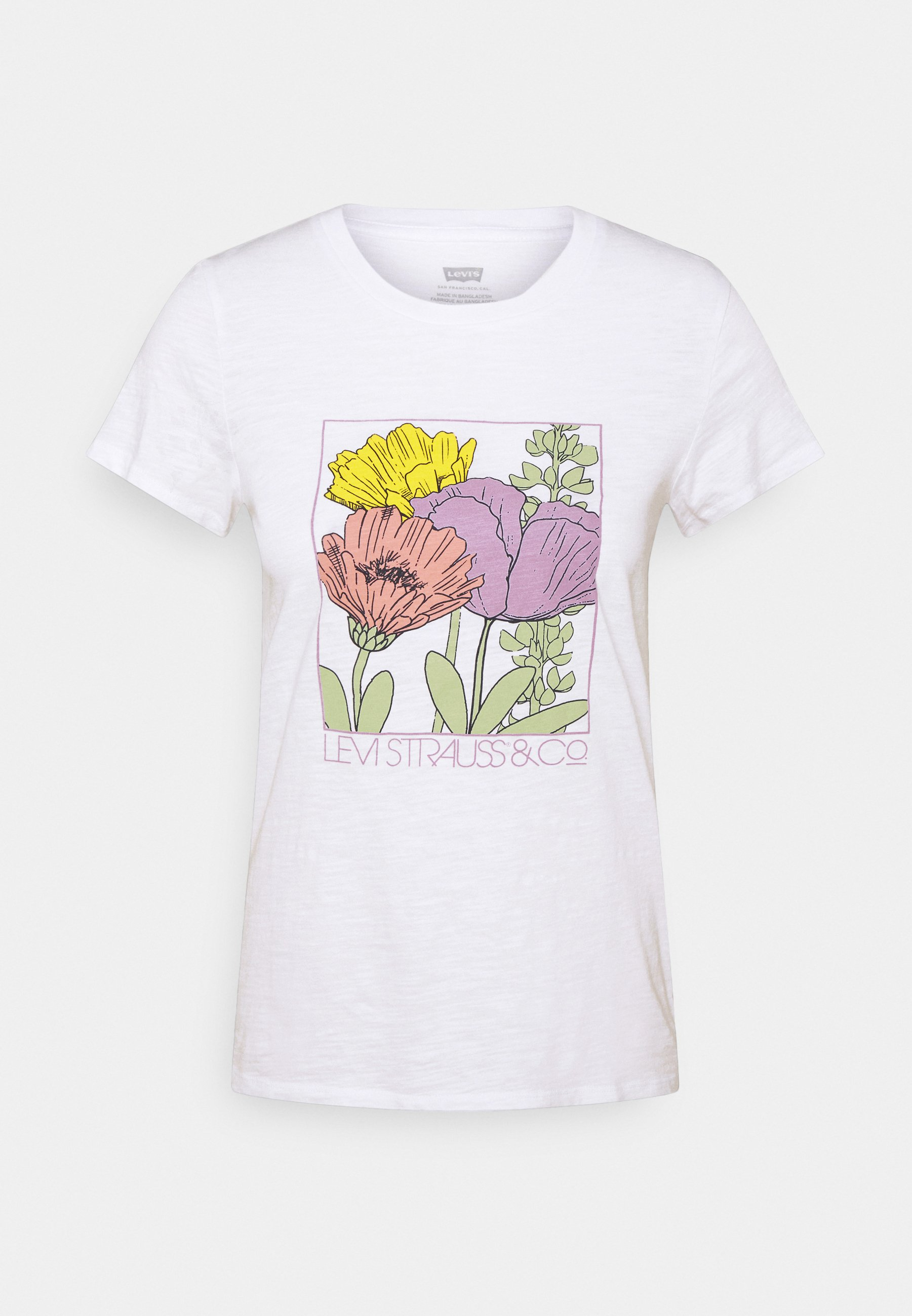 Levi's® The Perfect Tee - T-shirts Med Print White/hvit