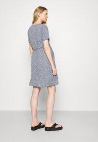 Missguided Maternity - WRAP DRESS - Day dress - blue - 2
