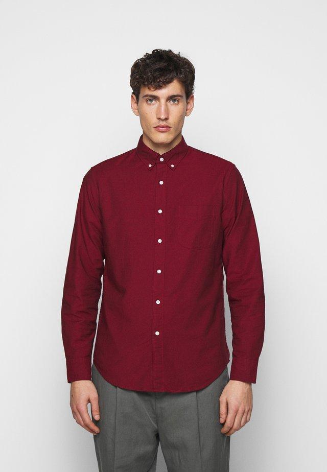 STRETCH OXFORD - Overhemd - dark cranberry