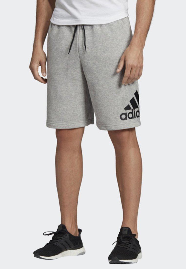 adidas Performance - MUST HAVES BADGE OF SPORT SHORTS - Sports shorts - gray