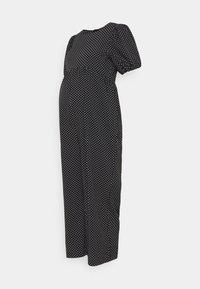 Missguided Maternity - POLKA PUFF SLEEVE CULOTTE - Tuta jumpsuit - black - 0