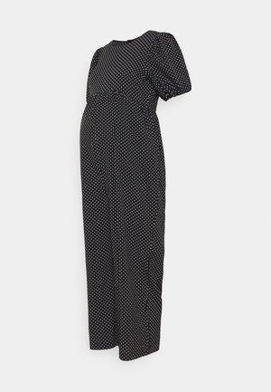 POLKA PUFF SLEEVE CULOTTE - Jumpsuit - black