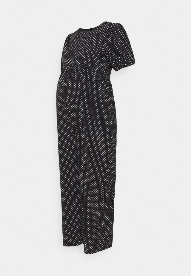 POLKA PUFF SLEEVE CULOTTE - Jumpsuit - black