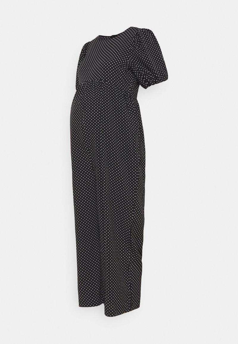 Missguided Maternity - POLKA PUFF SLEEVE CULOTTE - Tuta jumpsuit - black
